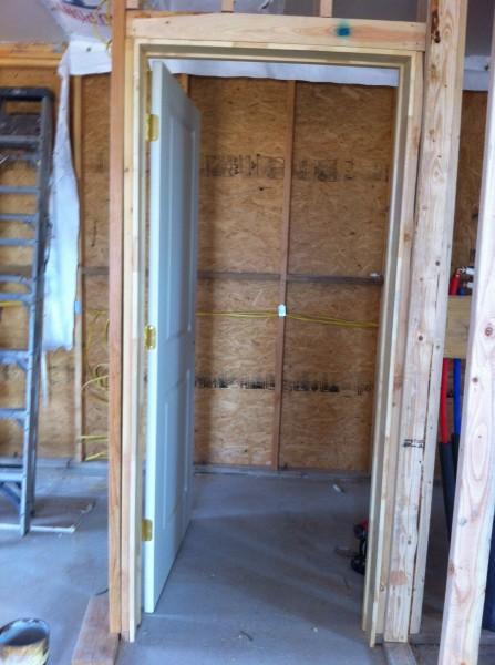 door for mechanical room