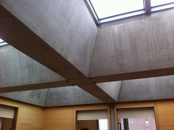 Contrast with concrete beam