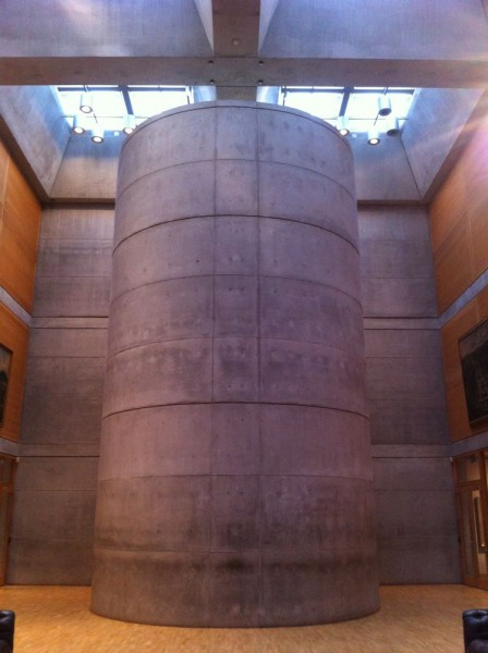 Concrete column for stair