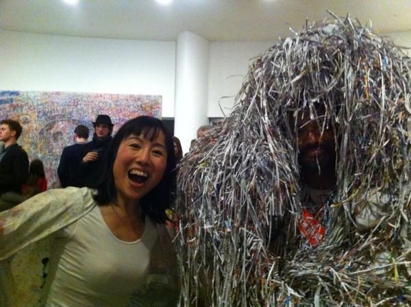 "Newspaper Woman ""MIYUKI NISHIZAWA"" & monster"