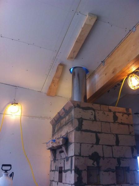 Setting a chimny