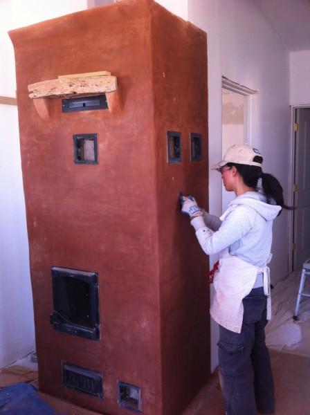 Natural plaster finish