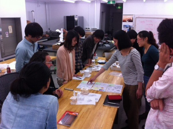 We visited the Tokyo Metropolitan University for our presentation.