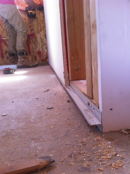 J-channel for bottom of drywall