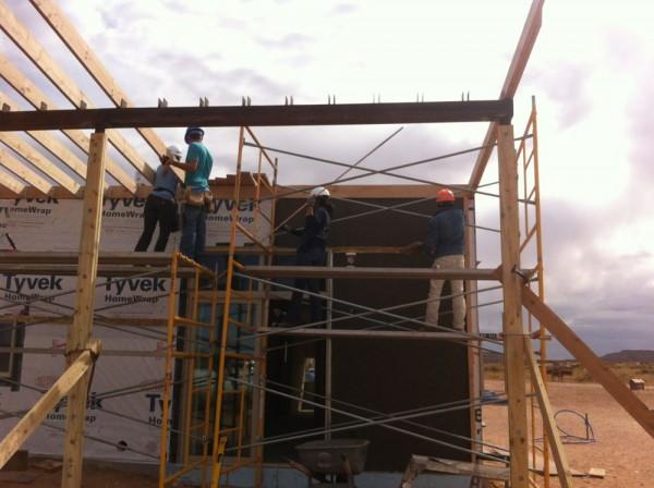 North facade (roof & plaster work)