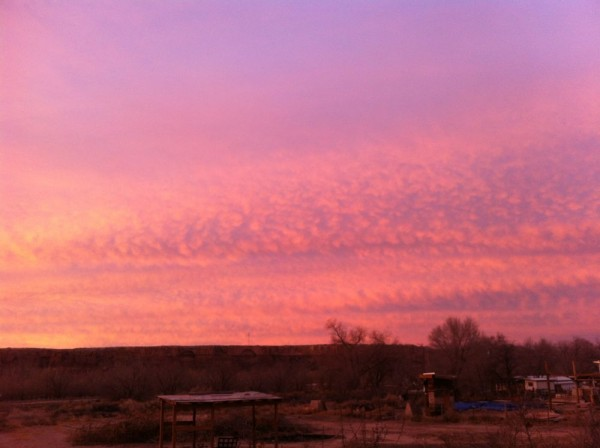 pink mackerel sky
