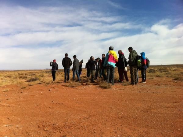 students doing site survey